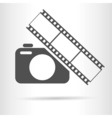 camera film icon vector image vector image