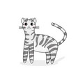 character of american curl in kawaii style vector image vector image