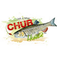 chub fishing vector image vector image
