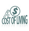 cost of living issues vector image vector image