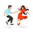 couple dancing swing rock or lindy hop vector image