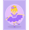 Cute Purple Ballerina Girl vector image vector image
