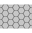 Design seamless monochrome checked hexagon pattern vector image