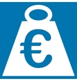 Euro Weight Standard Icon vector image vector image