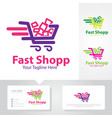 fast shop logo designs vector image