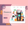 finance website landing page design vector image