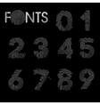 Finger print numbers best font vector image vector image