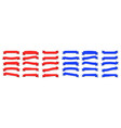 flat ribbons red and blue ribbons banners vector image