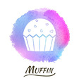 Food Dessert Muffin Watercolor Concept vector image vector image