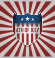 fourth of july sign design template vector image vector image