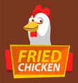 friend chicken bistro fast food signboard vector image