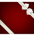 Gift card with white bow vector image