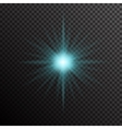 Glowing light burst with sparkles on transparent vector image