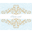 Golden Royal classic ornament invitation vector image vector image