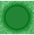 green background with lacy leaves pattern vector image vector image