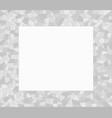 grey mosaic triangles abstract border vector image