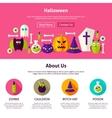 Halloween Web Design Template vector image vector image