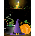 Halloween Witch supplies vector image vector image