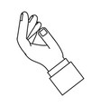 hand palm open vector image vector image