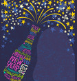 happy new year 2021 design champagne stars vector image