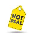 hot deal yellow hang tag vector image vector image