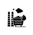 industrial pollution black icon sign on vector image