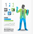 infographic business geometric concept design vector image vector image