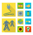 isolated object of solar and panel symbol vector image