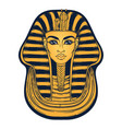 king tutankhamun mask ancient egyptian pharaoh vector image