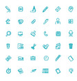 line web icon set - office management vector image vector image