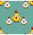 Little Chicken On Snowy Background vector image vector image