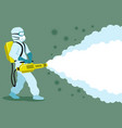 medic in a protective suit and mask vector image