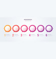 minimalistic infographic concept with 6 options vector image vector image
