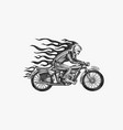 motorcycle for biker club templates vintage vector image vector image