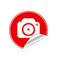 Red sticker camera vector image vector image