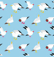 seagulls flying in sky vector image vector image