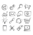 seo doodle icons vector image vector image