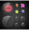 set buttons web glass colorful v2 vector image vector image