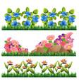 set of flower decoration vector image vector image