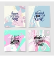 set of four handwritten calligraphy lettering vector image vector image