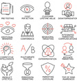Set of icons related to business management - 9 vector image