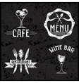 set of vintage cafe and restaurant grunge emblems vector image vector image