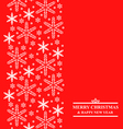 snow vertical red vector image vector image