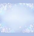 snowflake theme background 8 vector image