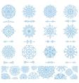 Snowflakes shapesdivider borders pattern vector image