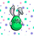 spring rabbit with egg vector image vector image