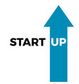 start up business concept text isolated vector image