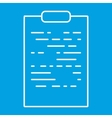 Tablet paper thin line icon vector image