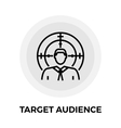 Target Audience Line Icon vector image