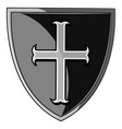 the heraldic shield of the crusader vector image vector image